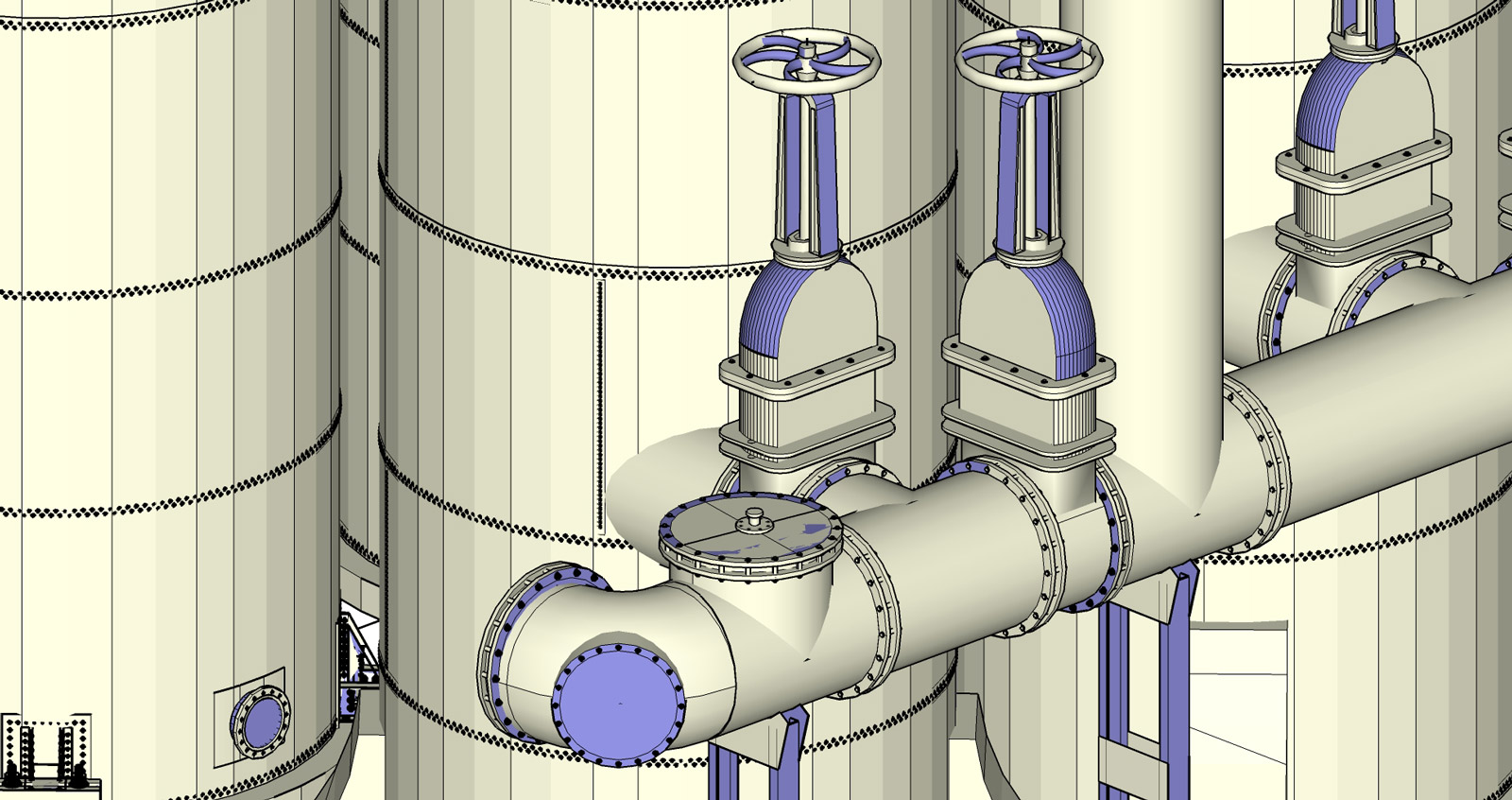 Torri di lavaggio gasometro - Dettaglio
