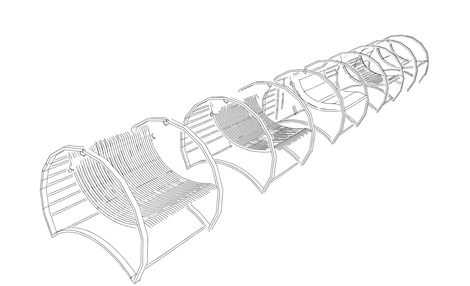 Tenso Chair - Progetto di sedia con molle di contrasto