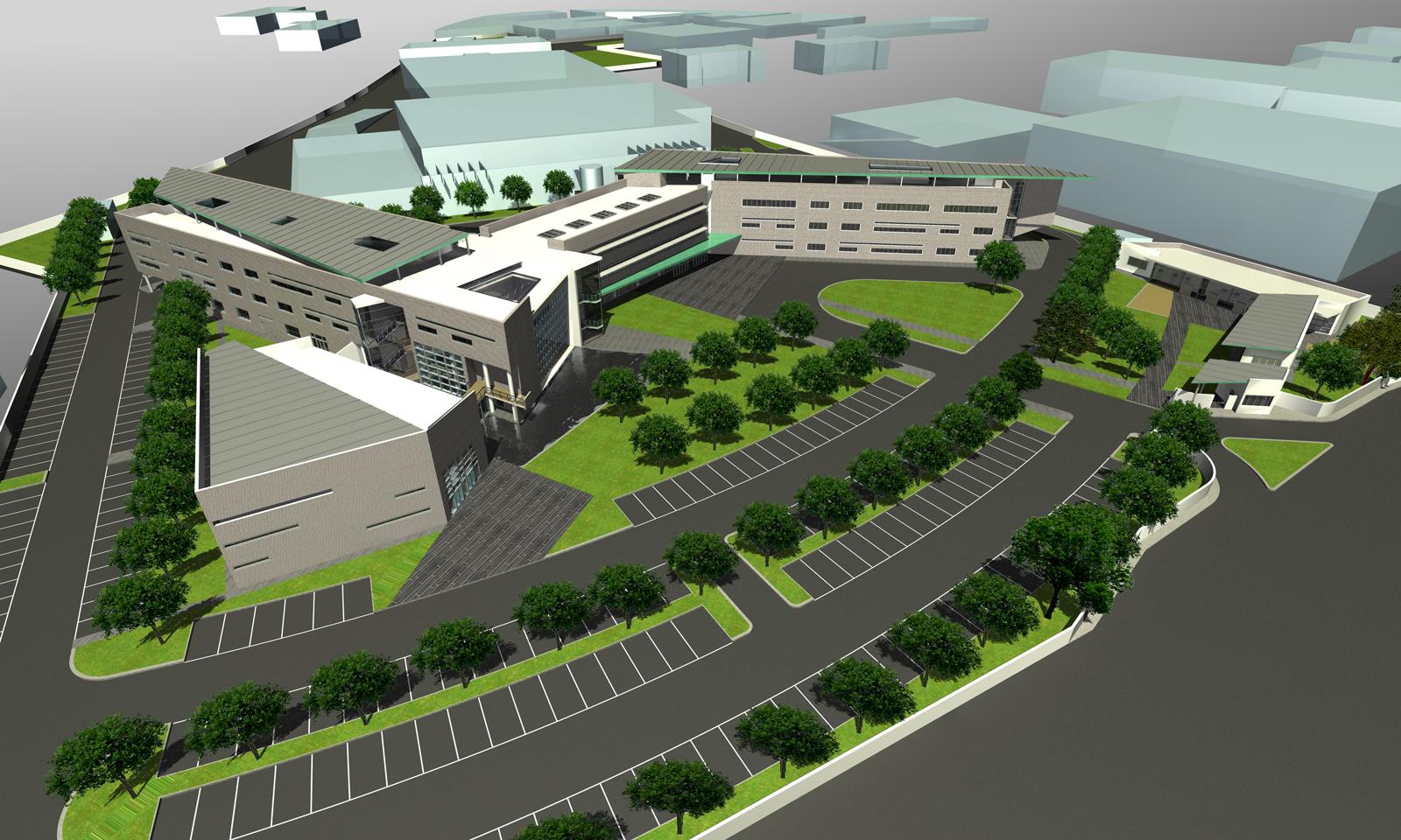 Centro Direzionale AMA S.p.A. (2005) - Veduta del progetto