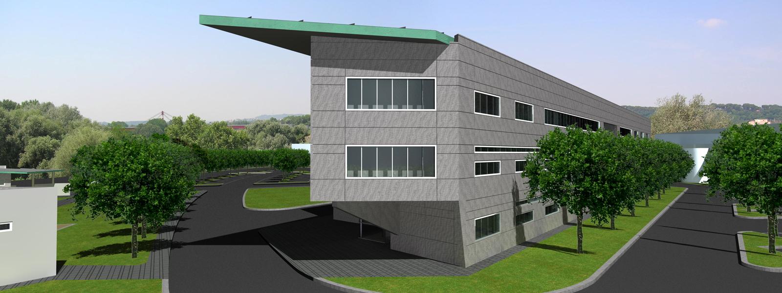 Centro Direzionale AMA S.p.A. (2005) - Prospetto Nord