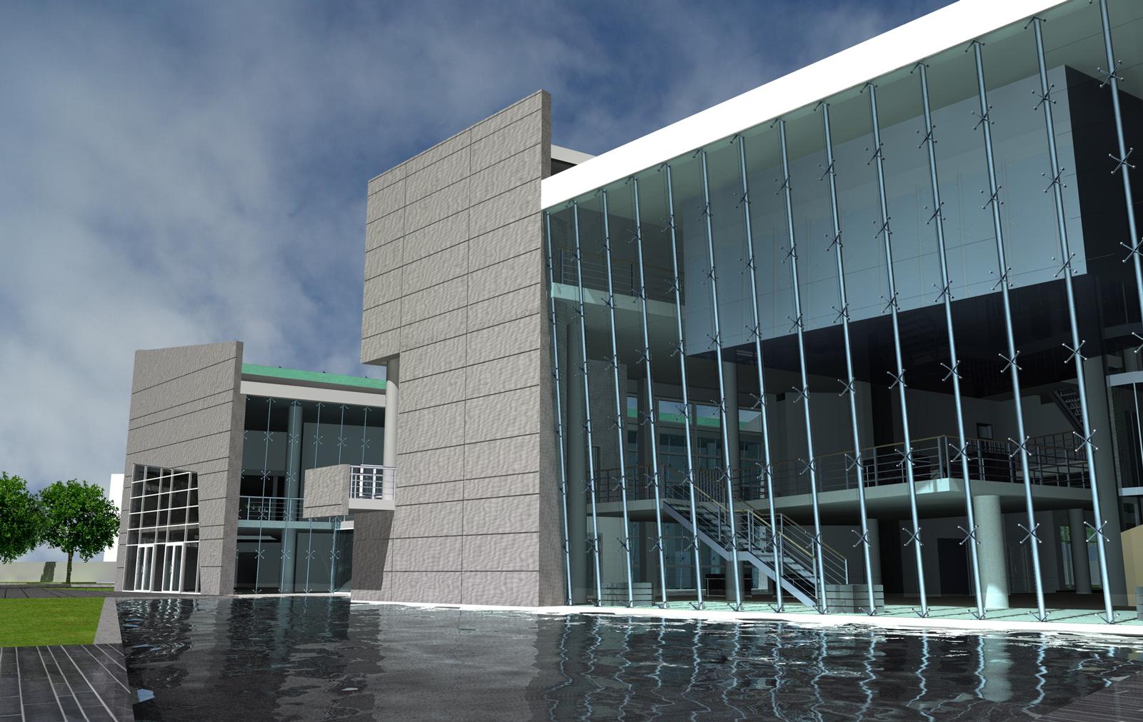 Centro Direzionale AMA S.p.A. (2005) - Veduta Ovest